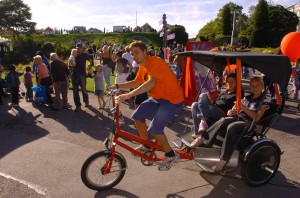 Hitching a ride at The Big Wheel's Big Day Out