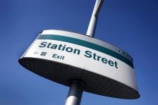 Station street tram sign