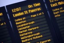 Train departure board