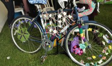 Yarn bombed bicycle